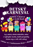 Plagát detského karnevalu