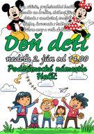 Plagát s podujatím Deň detí